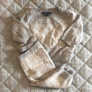 0-3 Month fairisle sweater set